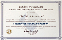 NCCER Accredited Training Sponsor